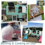 Food truck backing & cooking on tour